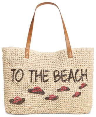 Image of Style & Co To The Beach Straw Tote, Only at Macy's
