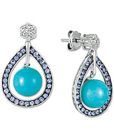 Le Vian® Multi-Gemstone Teardrop Drop Earrings  (14-3/4 ct. t.w.) in 14k White Gold