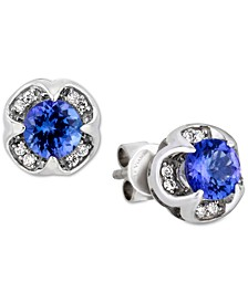 Blueberry Tanzanite® (1 ct. t.w.) & Diamond Accent Stud Earrings in 14k White Gold