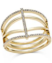 INC International Concepts Pavé Open Cuff Bracelet, Created for Macy's