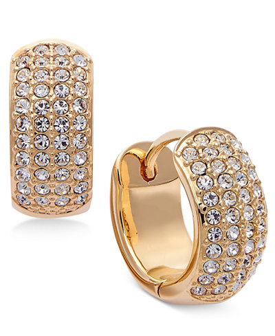 Danori Gold-Tone Pavé Hoop Earrings