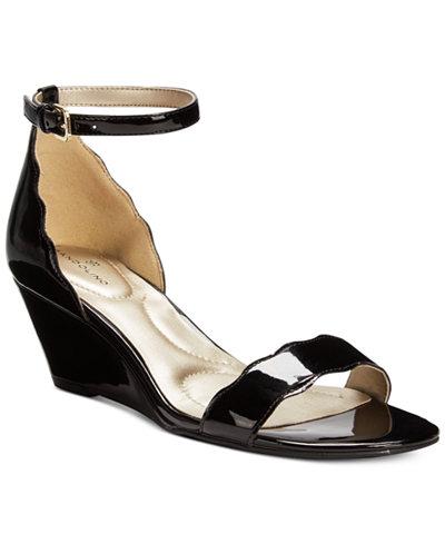 Bandolino Opali Scalloped Wedge Sandals Sandals Shoes