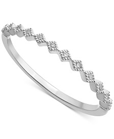 Diamond Accent Stackable Band in 14K Gold, White Gold or Rose Gold