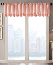 "Madison Park Bessie Cotton 50"" x 18"" Horizontal Ruffle Valance"