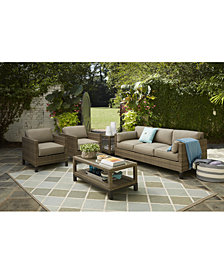 CLOSEOUT! North Port Outdoor Seating Collection,with Sunbrella® Cushions, Created for Macy's