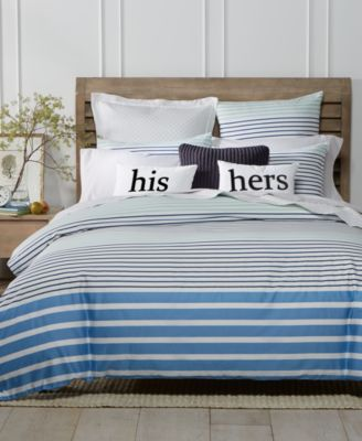 CLOSEOUT! Nautical Stripe 2-Pc. Twin Duvet Set, Created for Macy's