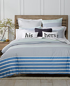 Charter Club Damask Designs Cotton Nautical Stripe Duvet Sets, Created For  Macyu0027s