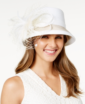 Edwardian Style Hats, Titanic Hats, Derby Hats August Hats Freesia Cloche Hat $72.00 AT vintagedancer.com