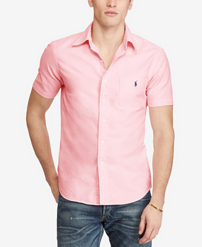 Polo Ralph Lauren Men's Short-Sleeve Oxford Shirt - Casual Button ...