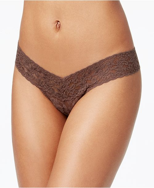 3059f2aa61c Hanky Panky Signature Lace Low Rise Thong 4911 & Reviews - Bras ...