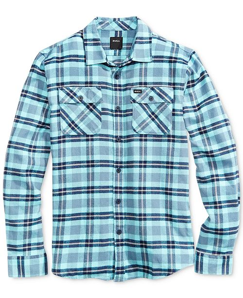 RVCA Men's That'll Work Flannel Cotton Shirt