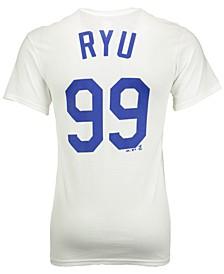 Men's Hyun-jin Ryu Los Angeles Dodgers Official Player T-Shirt