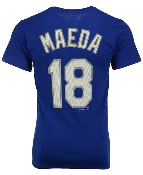 1ba817e00 ... Majestic Men's Kenta Maeda Los Angeles Dodgers Official Player T-Shirt  ...