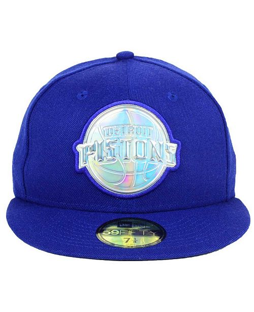 pretty nice 1158f a4489 ... New Era Detroit Pistons Iridescent 59FIFTY Cap ...