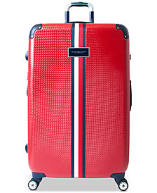 "CLOSEOUT! Tommy Hilfiger Basketweave Hardside 28"" Spinner Suitcase"