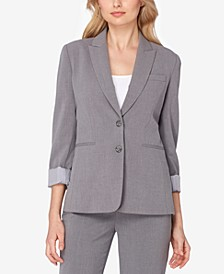 Two-Button Peak-Collar Blazer
