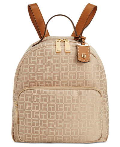 Tommy Hilfiger Julia Monogram Jacquard Dome Backpack, A Macy's Exclusive Style