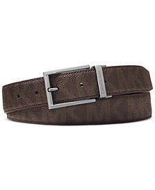 Men's Shadow Reversible Patent-Leather Belt
