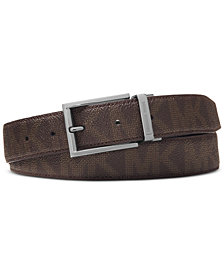 Michael Kors Men's Shadow Reversible Patent-Leather Belt