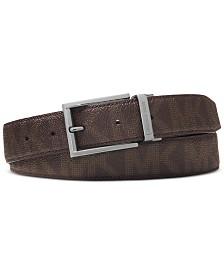 Michael Kors Men's Shadow Reversible Patent-Leather Belt