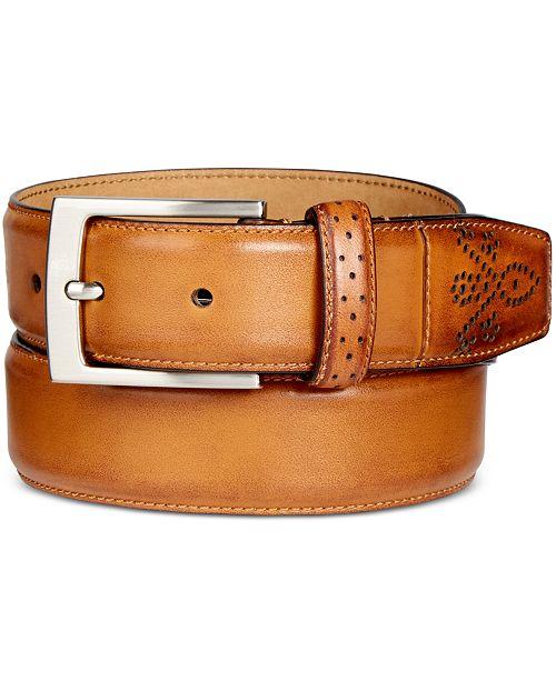 d0fa3ef9eefa Tasso Elba Men's Feather-Edge Leather Dress Belt, Created for Macy's ...