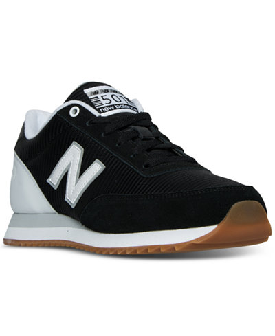 new balance men's 501 gum ripple casual sneakers from