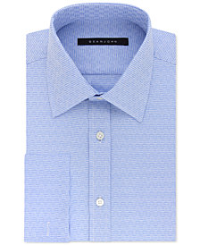 Sean John Men's Big & Tall Classic/Regular Fit Weave Pattern French Cuff Dress Shirt
