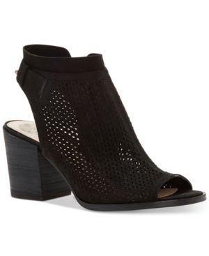 Vince Camuto Lidie Perforated Peep-Toe Sandals Women