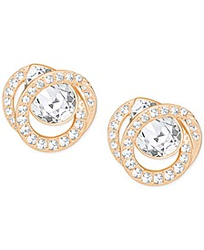 Rose Gold-Tone Crystal Stud Earrings