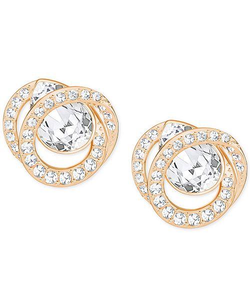 Swarovski Rose Gold-Tone Crystal Stud Earrings - Fashion Jewelry ... d119e7526c