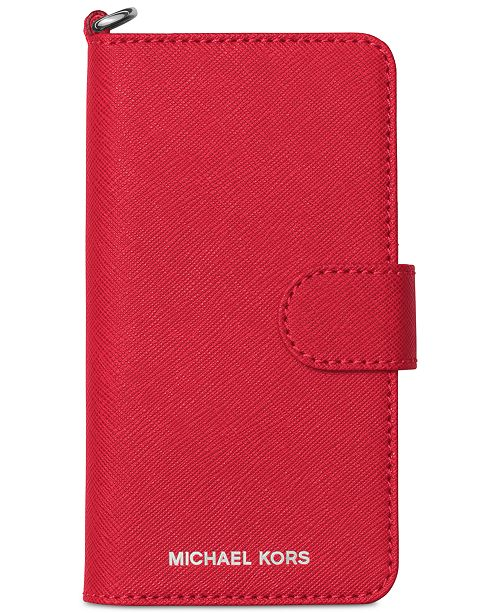 low priced d25a9 5e54e Michael Kors iPhone 7 Tab Folio Case & Reviews - Handbags ...