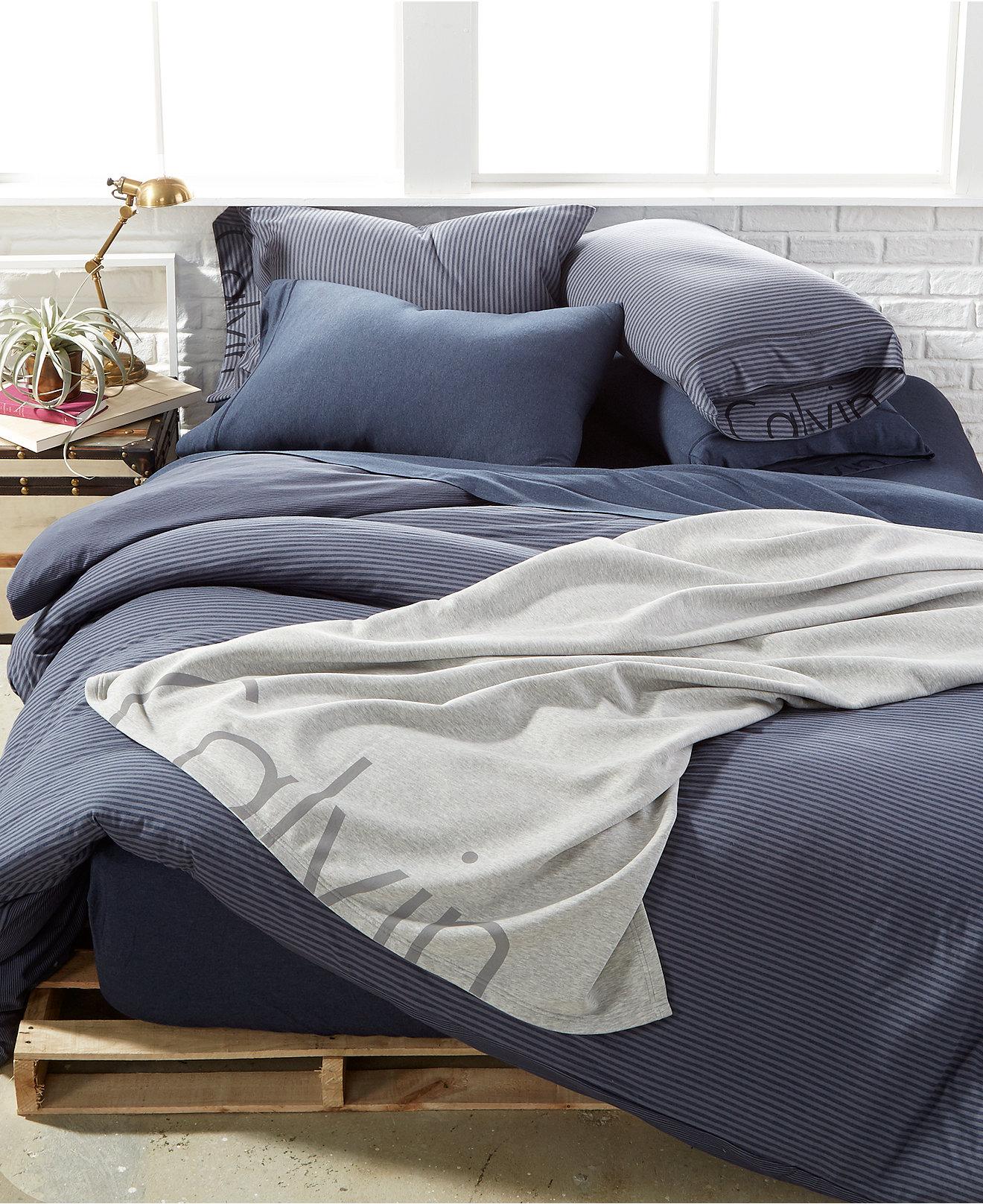 duvet covers  macy's - calvin klein modern cotton pulse duvet covers