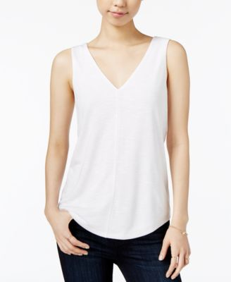 Image of Maison Jules V-Neck Shell, Only at Macy's