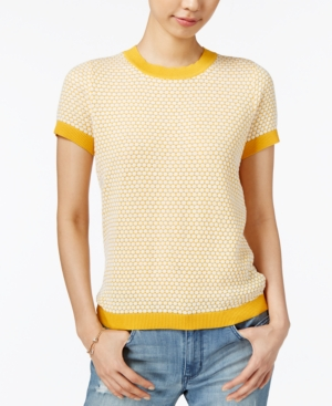 Retro Vintage Sweaters Maison Jules Short-Sleeve Sweater Only at Macys $34.99 AT vintagedancer.com