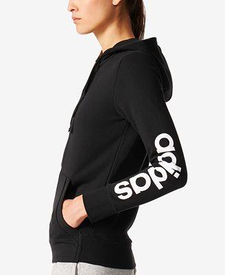 Adidas essenziale lineare felpa giacche donne macy's