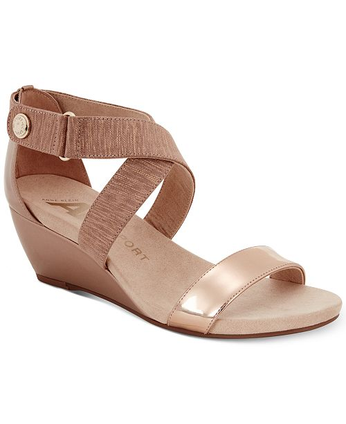 9141d34966fa Anne Klein Sport Crisscross Wedge Sandals   Reviews - Sandals ...