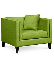 """Braylei 43"""" Fabric Armchair - Custom Colors, Created for Macy's"""