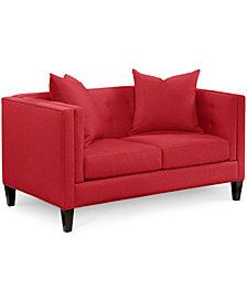 "Braylei 61"" Fabric Loveseat - Custom Colors, Created for Macy's"