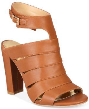 Thalia Sodi Wide-Width Ebbony Strappy Dress Sandals, Created for Macy