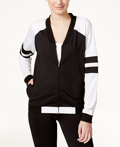 Jessica Simpson The Warm Up Juniors' Colorblocked Bomber Jacket