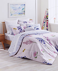 bluebell gray Murran Reversible Duvet Sets, Created for Macy's