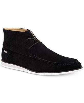 Calvin Klein Men's Kenley Suede Chukka Boots - All Men's Shoes ...