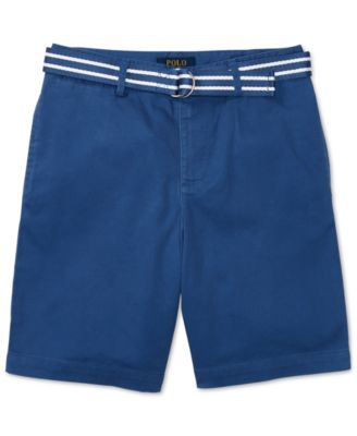 Image of Ralph Lauren Stripe Belt and Twill Shorts, Big Boys (8-20)