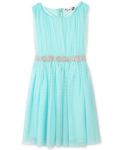 Speechless Embellished Waist Tulle Dress Girls Plus 10