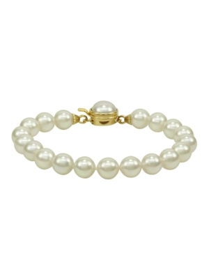 Majorica Pearl Bracelet, 18k Gold over Sterling