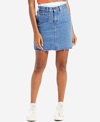 Levi's® Orange Tab Denim Skirt, Levi's Select for Macy's - Women ...