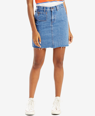 Levi's® Orange Tab Denim Skirt, Levi's Select for Macy's - Women ...