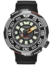 Men's Eco-Drive Sport Black Polyurethane Strap Watch 52mm BN7020-17E