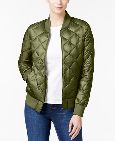 32 Degrees Quilted Packable Bomber Jacket