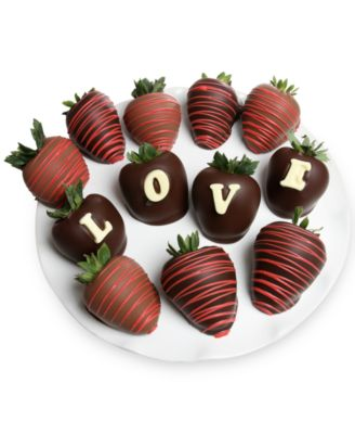 12-Pc. LOVE Belgian Chocolate-Covered BerryGram®